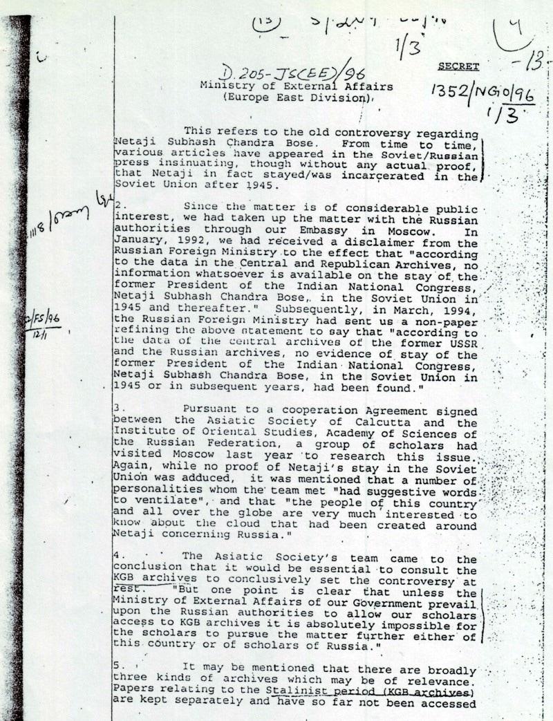 Secret document raises questions about Subhash Chandra Bose\'s ...