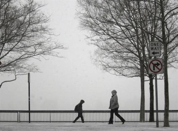 Winter storm grips eastern U.S., shuts offices and snarls flights
