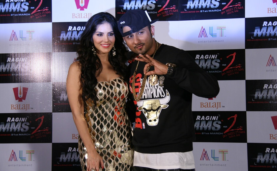 Photos: Honey Singh and Sunny Leone's 'Chaar Bottle Vodka' for Ragini MMS