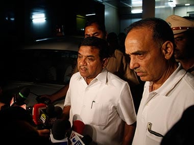 Satyapal Singh with state home minister RR Patil: AP
