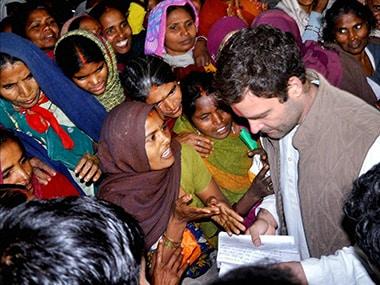 File image of Rahul Gandhi in Amethi. PTI