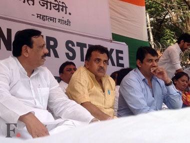 Nirupam during the hunger strike. Kavitha Iyer/ Firstpost