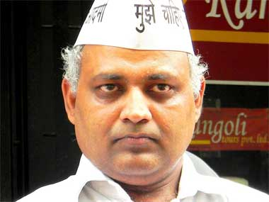 Somnath Bharti in this file photo. Image from Facebook AAP