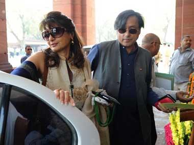 Sunanda and Shashi Tharoor. AFP