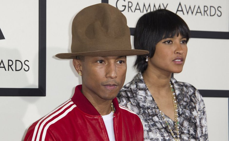 Pharrell Williams stole the show with ease after donning a comically  oversized fedora hat at the 5a73411e027