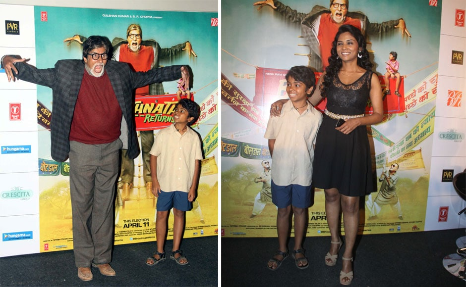 Photos: Big B, cast members launch Bhoothnath Returns trailer
