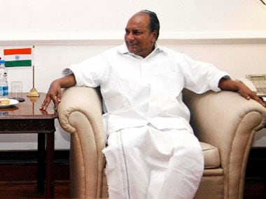 AK Antony in file photo. AFP