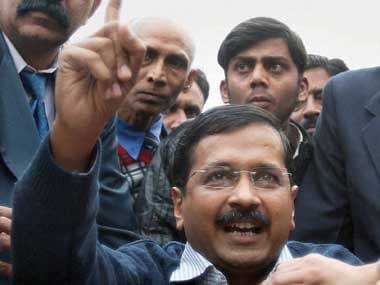 Kejriwal after Assembly yesterday. PTI