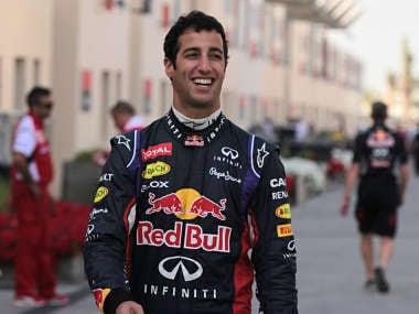 Formula One driver Daniel Ricciardo of Red Bull Racing walks in the paddock during pre-season testing at the Bahrain International Circuit in Sakhir. AP