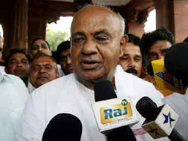 JD(S) chief and former prime minister HD Deve Gowda. AFP