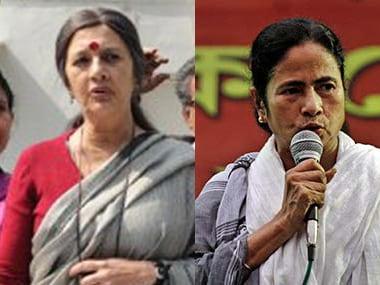 Mamata Banerjee and Brinda Karat.