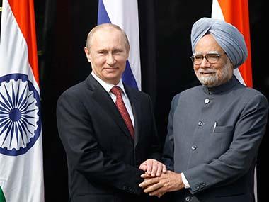 Prime Minister Manmohan Singh and Russian President Vladimir Putin. AP