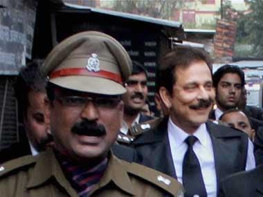 Sahara Group chief Subrata Roy in police custody. PTI