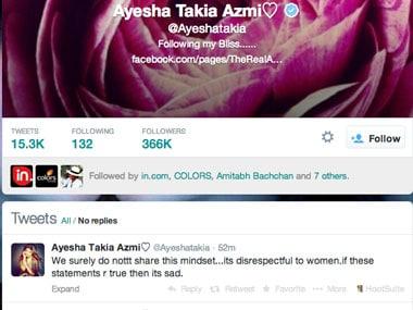Ayesha Takia slams father-in-law Abu Azmi over rape remark