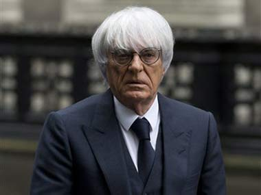 File photo of Bernie Ecclestone. AP