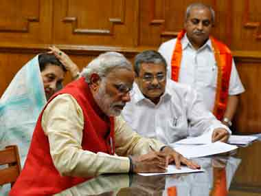 Modi acknowledged Jashodaben as his wife for the first time while filing his nomination: Reuters