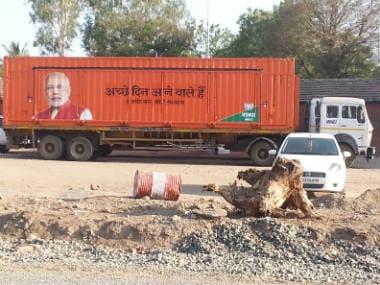 In dusty Shirur, three Modi trucks violate code of conduct
