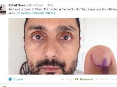 LS elections: Rajinikanth votes, queues at Cuffe Parade, Bollywood skips