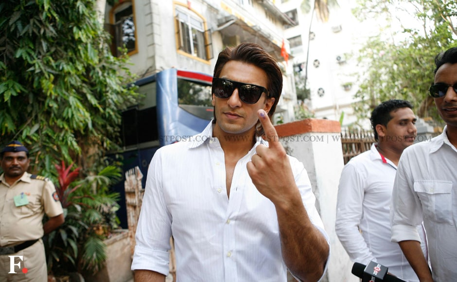 Photos: Ranveer, Ranbir, Aamir make Mumbai elections a fans delight
