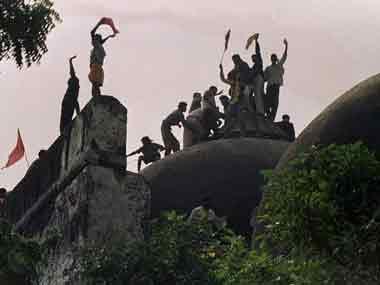 A file image of the Babri Masjid demolition. AFP