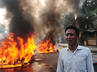 File photo of violence in Bangladesh. Image used for representational purposes only. AFP.