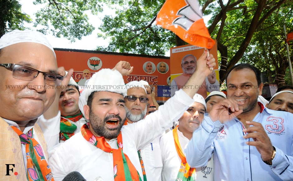 BJP supporters and party workers rejoice in the party's massive victory. The BJP registered a historic win in the 2014 Lok Sabha elections. Mexy Xavier/Firstpost