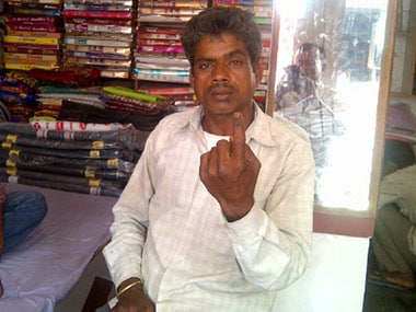 Ram Yash, a labourer from Amethi, who has been swept by the Modi wave. Sandip Roy/Firstpost