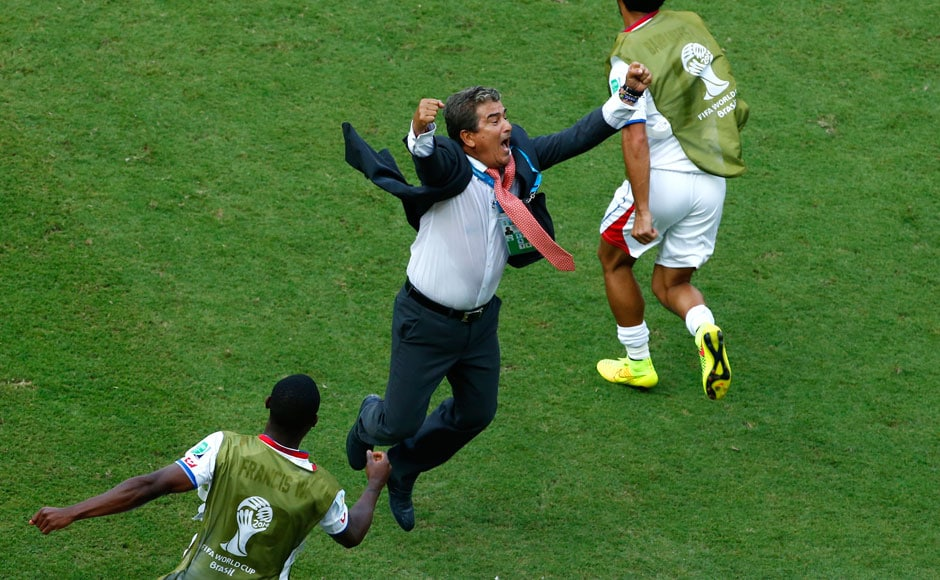 Even the coach couldn't control his emotions. Jorge Luis Pinto was ecstatic after a special win. Reuters