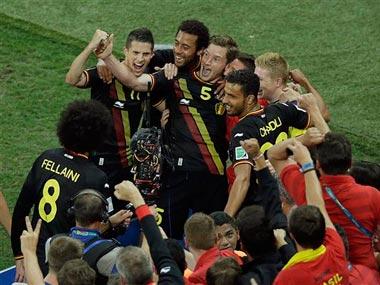 WC 2014: 10-man Belgium beat Korea to record three wins out of three