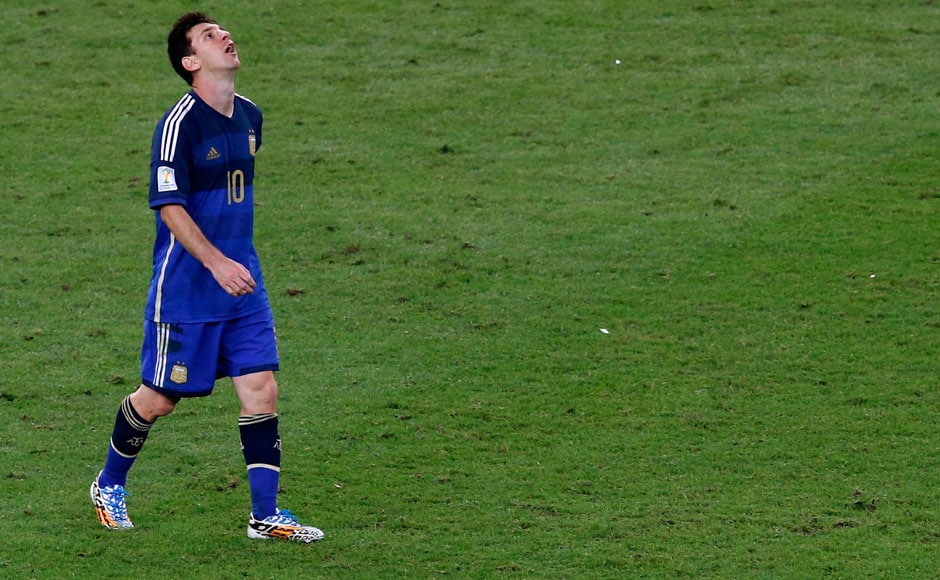 Photos: A stunned Lionel Messi after losing the World Cup final