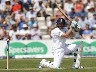 Ian Bell was found not to have suffered a fractured thumb while fielding on the 3rd day of the Third Test at Southampton. AFP