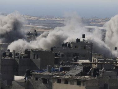 Photo shows recent Israeli strikes in Gaza. Reuters image