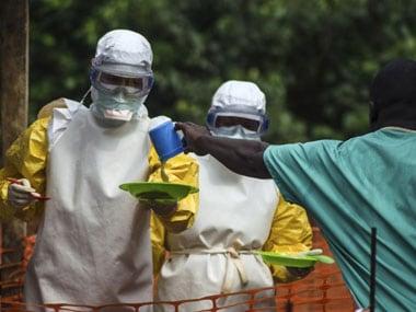 Health workers in Sierra Leone. Reuters.