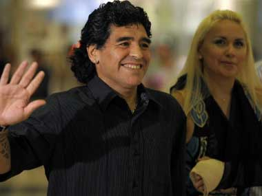 File picture of Diego Maradona. AFP