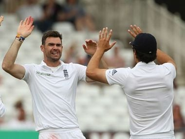 File picture of James Anderson(L). AFP
