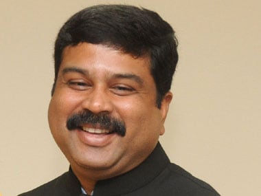 File image of Minister of petroleum and natural gas Dharmendra Pradhan. PIB