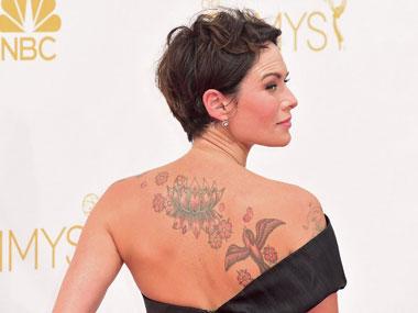 Lena Headey at the Emmys red carpet. AFP.