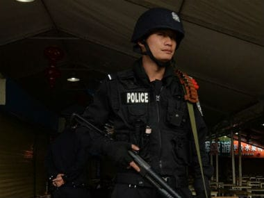 Representational image of Chinese police. AFP