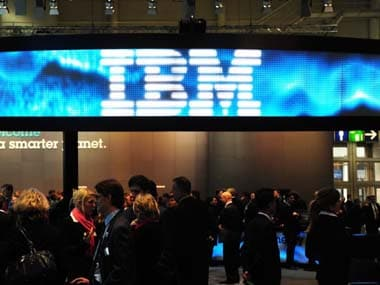 IBM logo. AFP