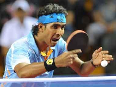 File picture of Sharath Kamal. AFP