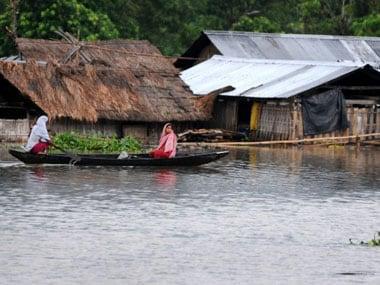 File image of Assam flooods. AFP.