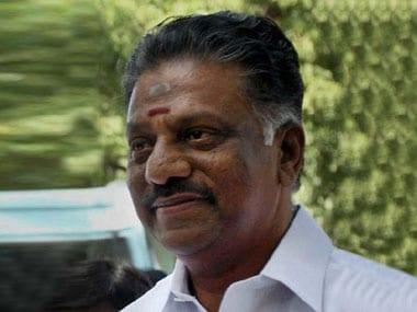 Tamil Nadu Chief Minister O Panneerselvam. PTI