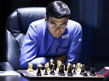 Viswanathan Anand still trails by a point against Carlsen. FIDE