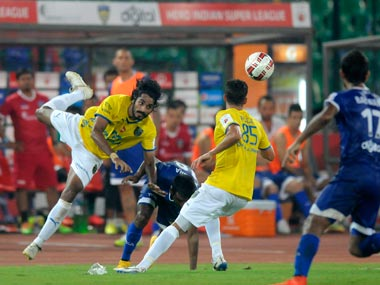 Sandesh Jhingan has become virtually indispensable in the Kerala defence. ISL