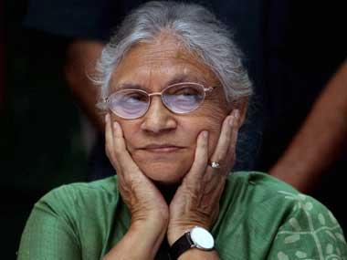 Former Delhi chief minister Sheila Dikshit. PTI