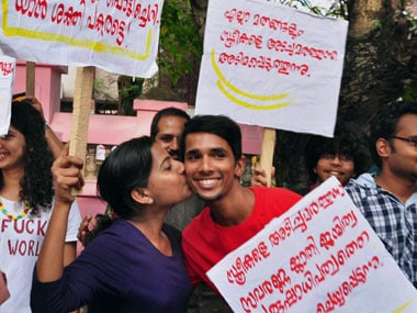 Violence mars Kiss of Love protest in Kozhikode as Hanuman Sena workers attack activists