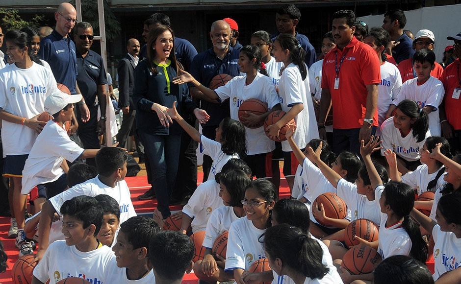 Photos: Nita Ambani, Adam Silver attend Jr. NBA program in Mumbai