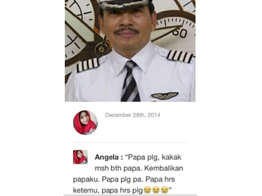 Papa, come back home, I need you, pleads daughter of missing AirAsia QZ8501 pilot