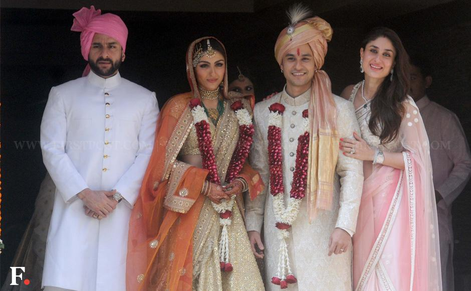 Gorgeousness overload: Soha, Kunal make a stunning wedding family ...