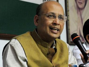 File image of Congress spokesperson Abhishek Manu Singhvi. AFP
